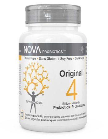 Compléments Alimentaires. Probiotiques Multi-Souches. Original - NOVA Probiotics. 4 Milliards de microorganismes contribuant à la santé de la flore intestinale.