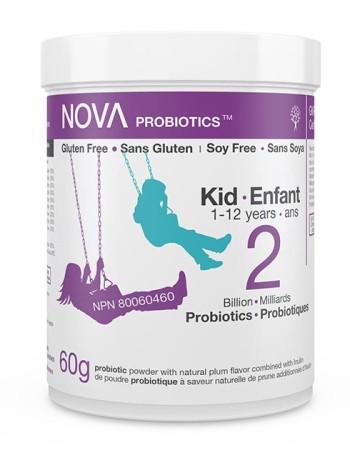 Poudre Probiotique pour Enfants. 2 Milliards de microorganismes aux actions bénéfiques sur la flore intestinale par cuillère-dose.