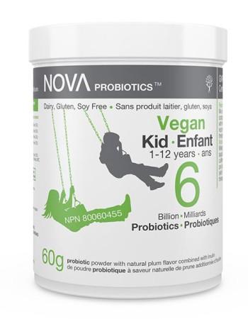 Poudre Probiotique pour Enfants. Sans Produit Laitier. 6 Milliards de microorganismes contribuant à la santé intestinale et immunitaire par cuillère-dose.
