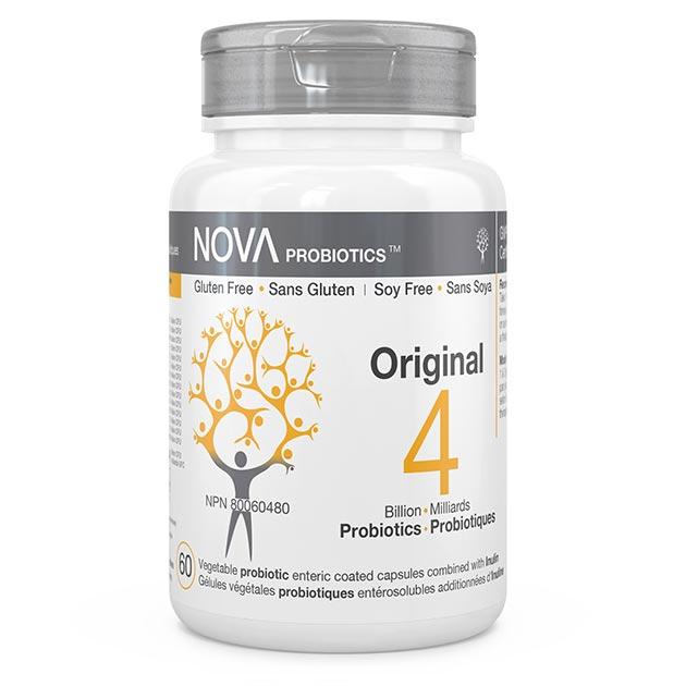 Supplément Probiotique Multi-Souches. Original - NOVA Probiotics. 4 Milliards de microorganismes contribuant à la santé de la flore intestinale.