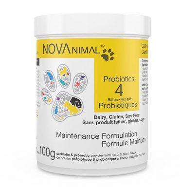 Poudre de pré- et probiotiques pour Chiens et Chats. NOVAnimal - Formule Maintien. 4 Milliards de microorganismes par cuillère-dose.